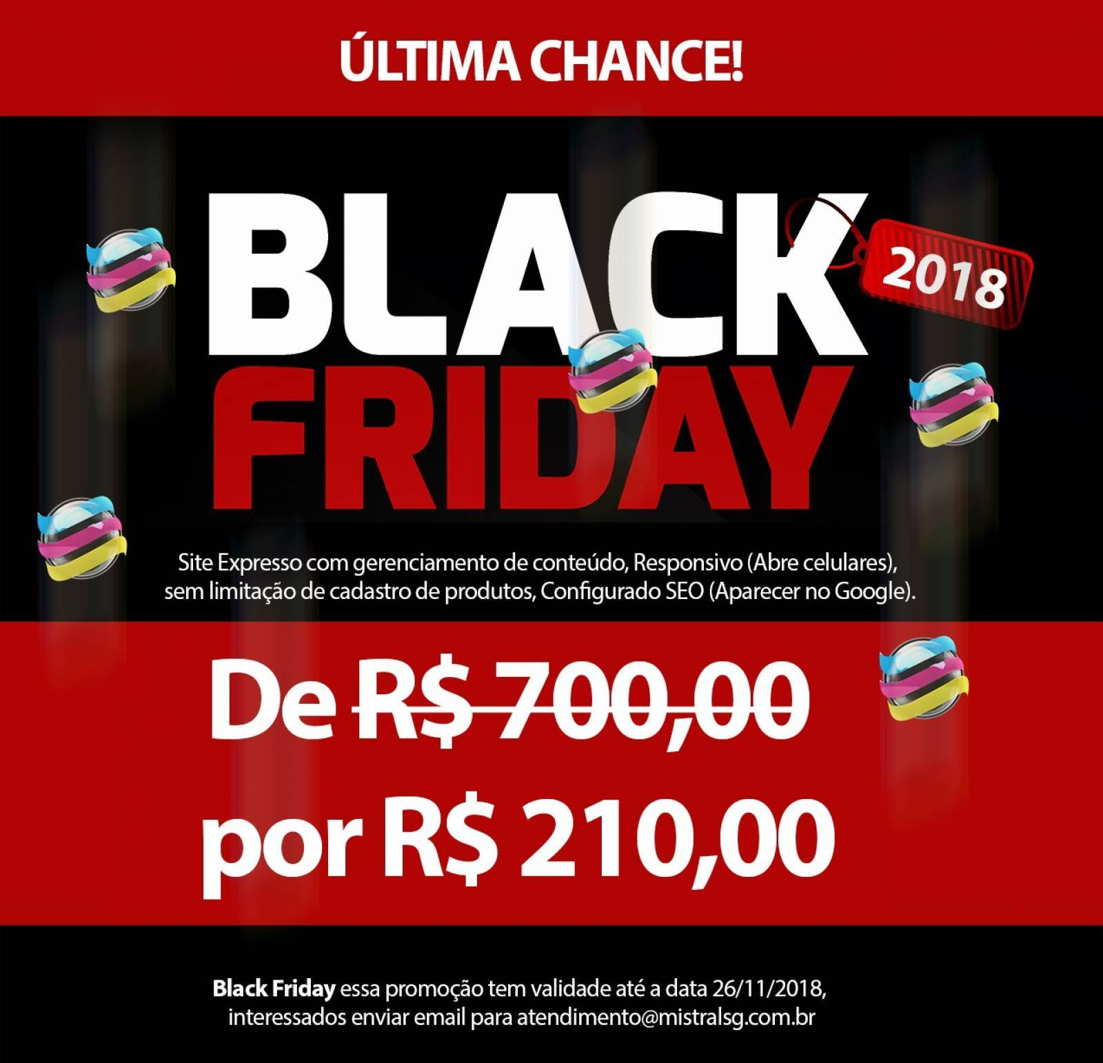 ÚLTIMA CHANCE BLACK FRIDAY